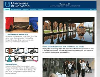 Main page screenshot of universes-in-universe.org
