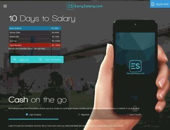 earlysalary.com screenshot