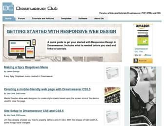 dreamweaverclub.com screenshot