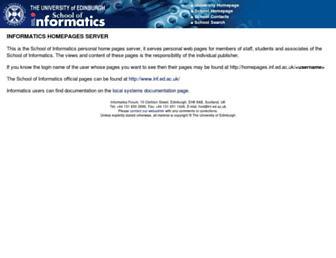 homepages.inf.ed.ac.uk screenshot
