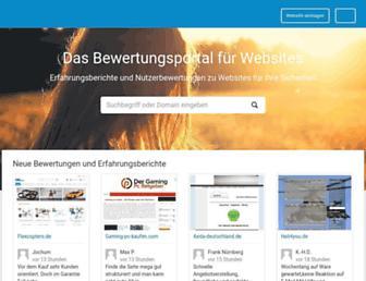 Main page screenshot of webwiki.de