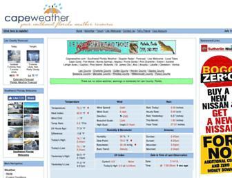 capeweather.com screenshot