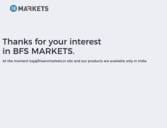 bajajfinservmarkets.in screenshot
