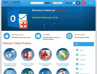 Thumbshot of Recoverytoolbox.com