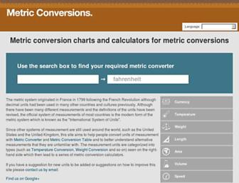 Thumbshot of Metric-conversions.org