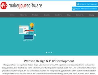 makeyoursoftware.com screenshot
