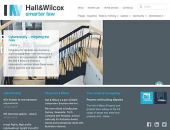 hallandwilcox.com.au screenshot