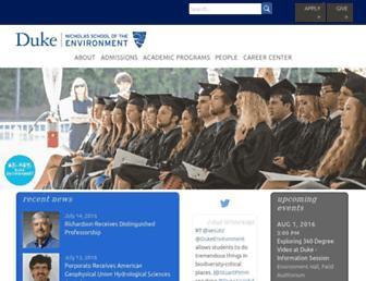 Main page screenshot of env.duke.edu
