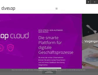 Main page screenshot of d-velop.de
