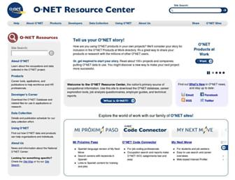 onetcenter.org screenshot