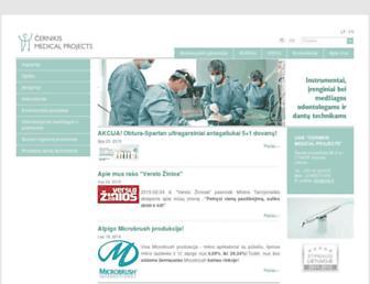 Main page screenshot of cmp.lt