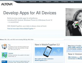 Thumbshot of Altova.com