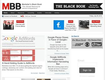Thumbshot of Marketersblackbook.com
