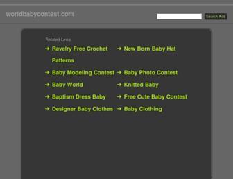 worldbabycontest.com screenshot