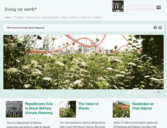 Main page screenshot of loe.org