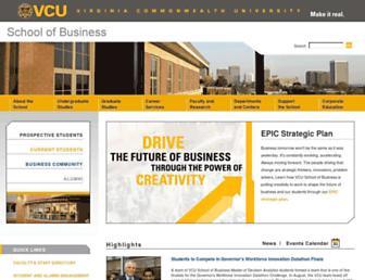 business.vcu.edu screenshot