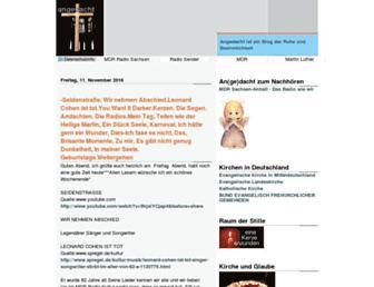 Main page screenshot of angedacht.info
