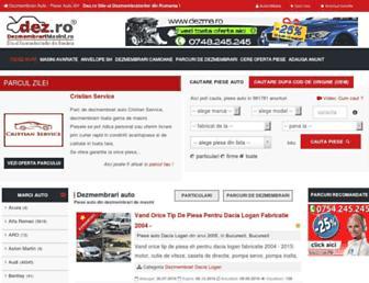 Main page screenshot of dez.ro