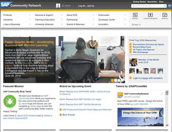 scn.sap.com screenshot