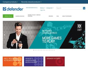 Main page screenshot of defender.by