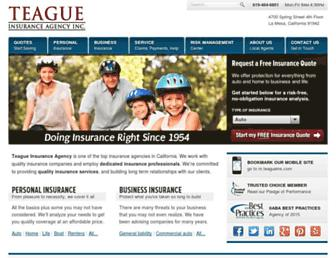 teagueins.com screenshot