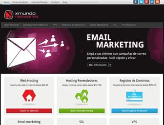 Main page screenshot of xmundo.net