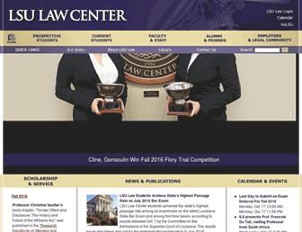 law.lsu.edu screenshot