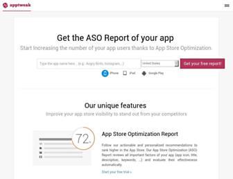 apptweak.com screenshot
