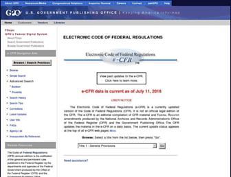 ecfr.gov screenshot
