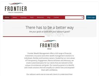 frontierwealth.com screenshot