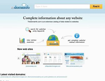 thedomainfo.com screenshot
