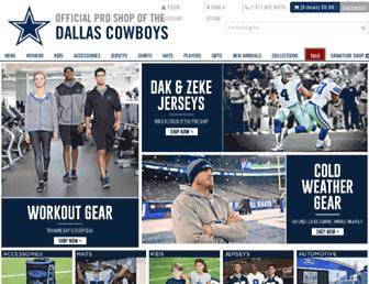 shop.dallascowboys.com screenshot