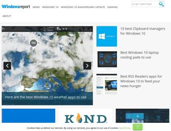 windowsreport.com screenshot