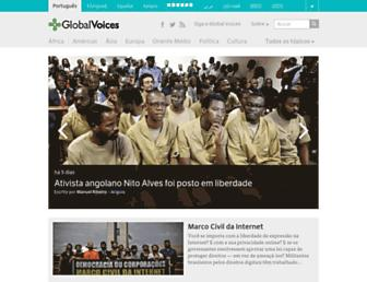 Main page screenshot of pt.globalvoicesonline.org
