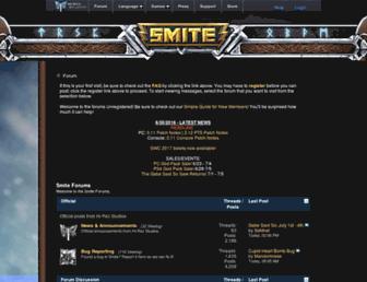 forums.smitegame.com screenshot