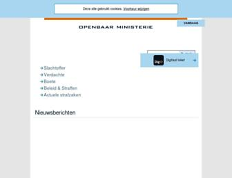 Main page screenshot of om.nl