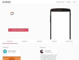 roposo.com screenshot