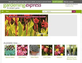 gardeningexpress.co.uk screenshot