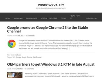 old.windowsvalley.com screenshot