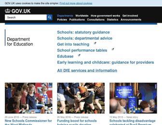 education.gov.uk screenshot