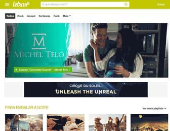 Main page screenshot of letras.be