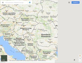 maps.google.sk screenshot
