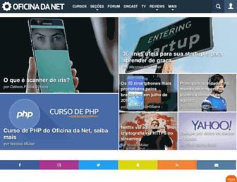 Main page screenshot of oficinadanet.com.br