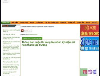 Main page screenshot of upes.edu.vn