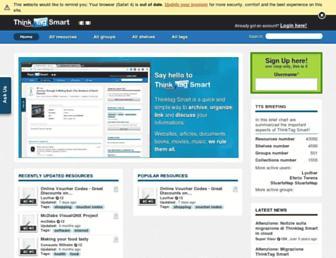 Main page screenshot of thinktag.it