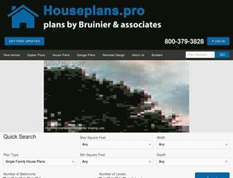 houseplans.pro screenshot