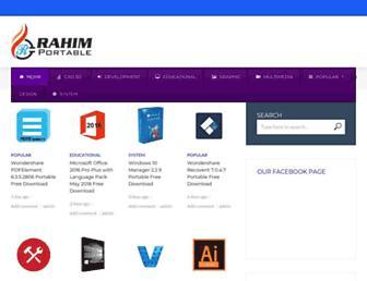 rahim-portable.com screenshot
