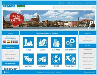 Main page screenshot of stadt-brandenburg.de