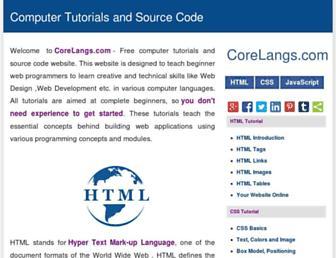 corelangs.com screenshot