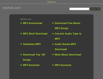 mp3hulk.com screenshot